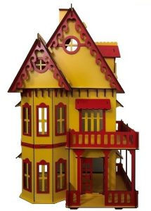 wooden dollhouse KT-9011RY