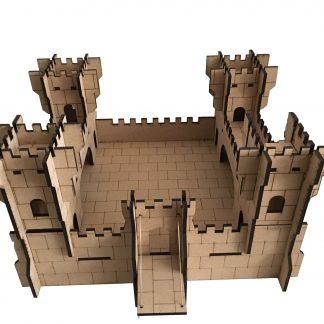 wooden castle big size top view