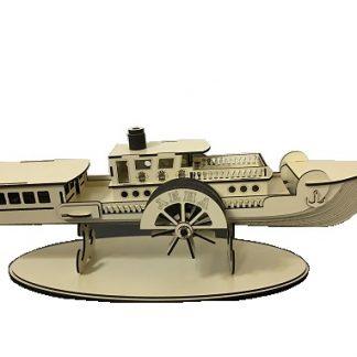 کشتی چوبی دکوری ساخته شده با استند