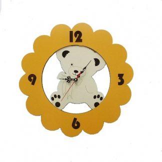 ساعت چوبی فانتزی اتاق بچه طرح خرس