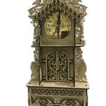 ساعت چوبی دکوری کشو دار (ساعت و جای جواهرات) کرم رنگ