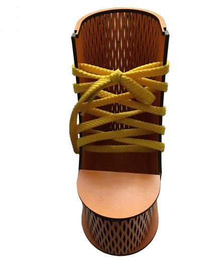 جا مدادی چوبی بشکل کفش